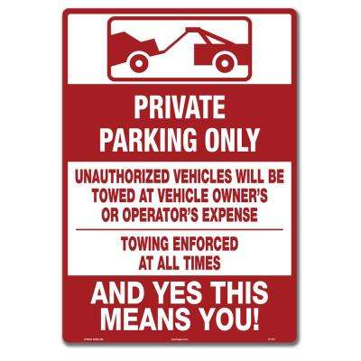 10 in. x 14 in. Tenant Parking Only Sign Printed on More Durable Thicker Longer Lasting Plastic Styrene