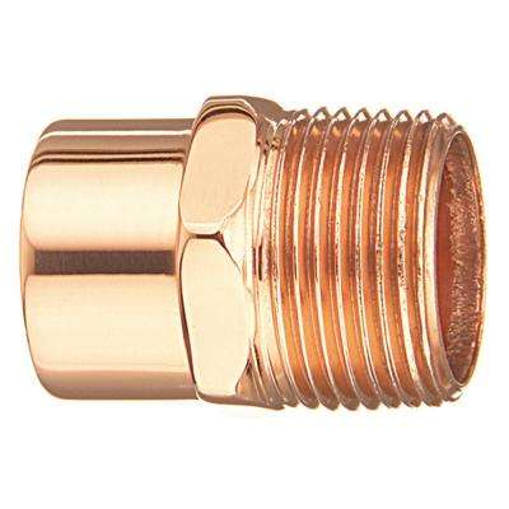 3/4 in. Copper Male Adapter (25-Pack)