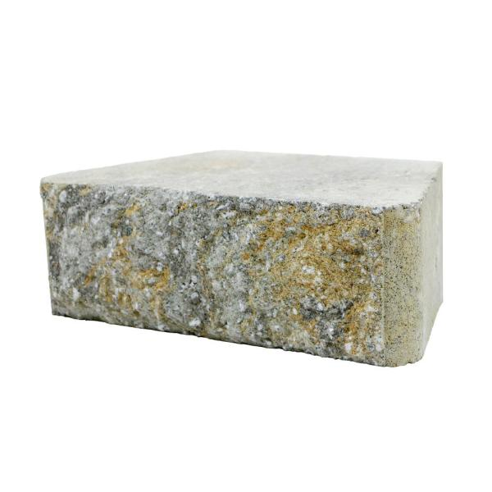 RockWall Small 4 in. x 11.75 in. x 6.75 in. Yukon Concrete Retaining Wall Block