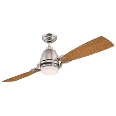Longo 54 in. LED Brushed Nickel Ceiling Fan with Remote Control