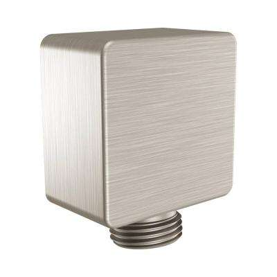 Square Drop Ell, Brushed Nickel