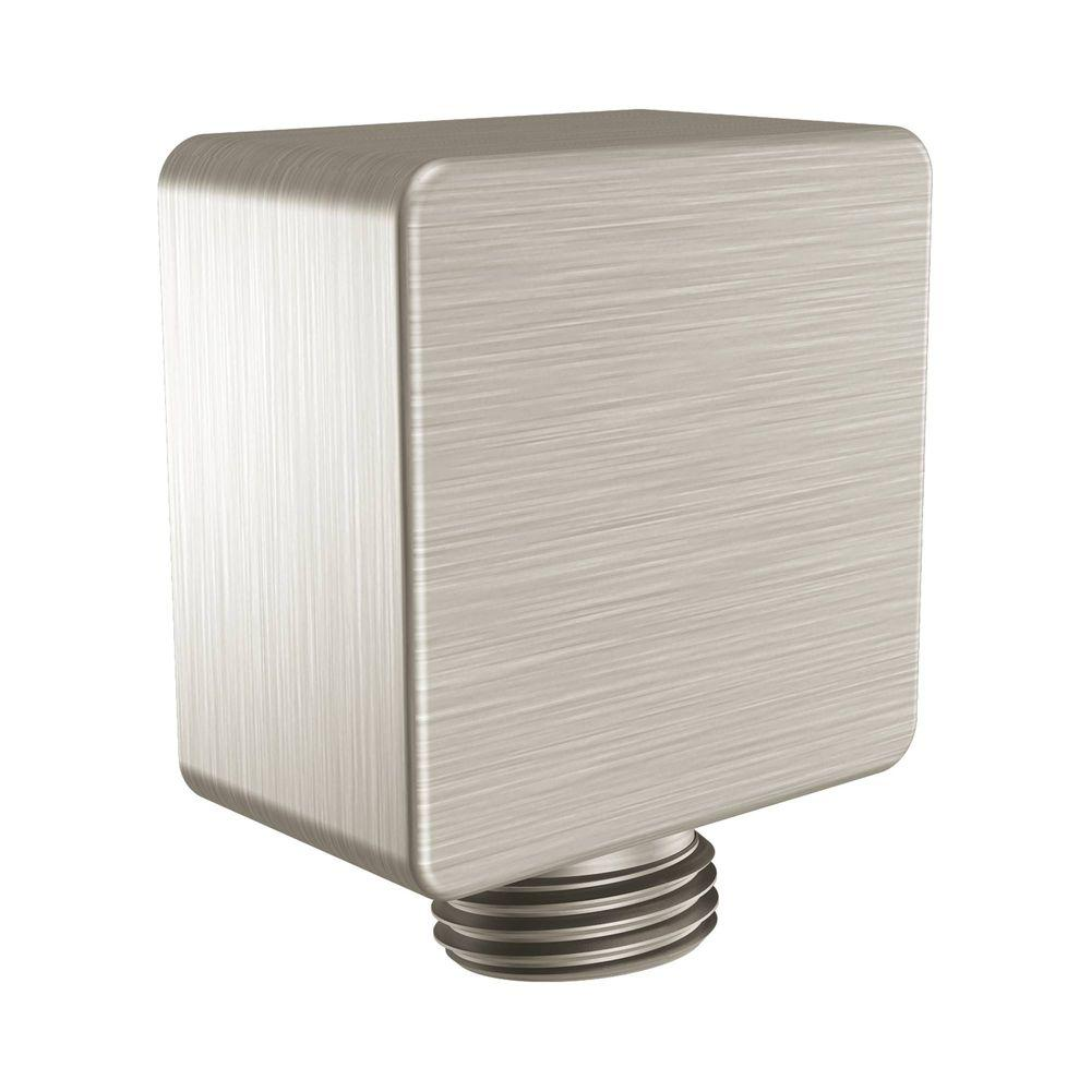 Moen Square Drop Ell Brushed Nickel A721bn The Home Depot