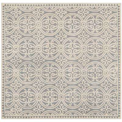 Cambridge Silver/Ivory 9 ft. x 9 ft. Square Area Rug
