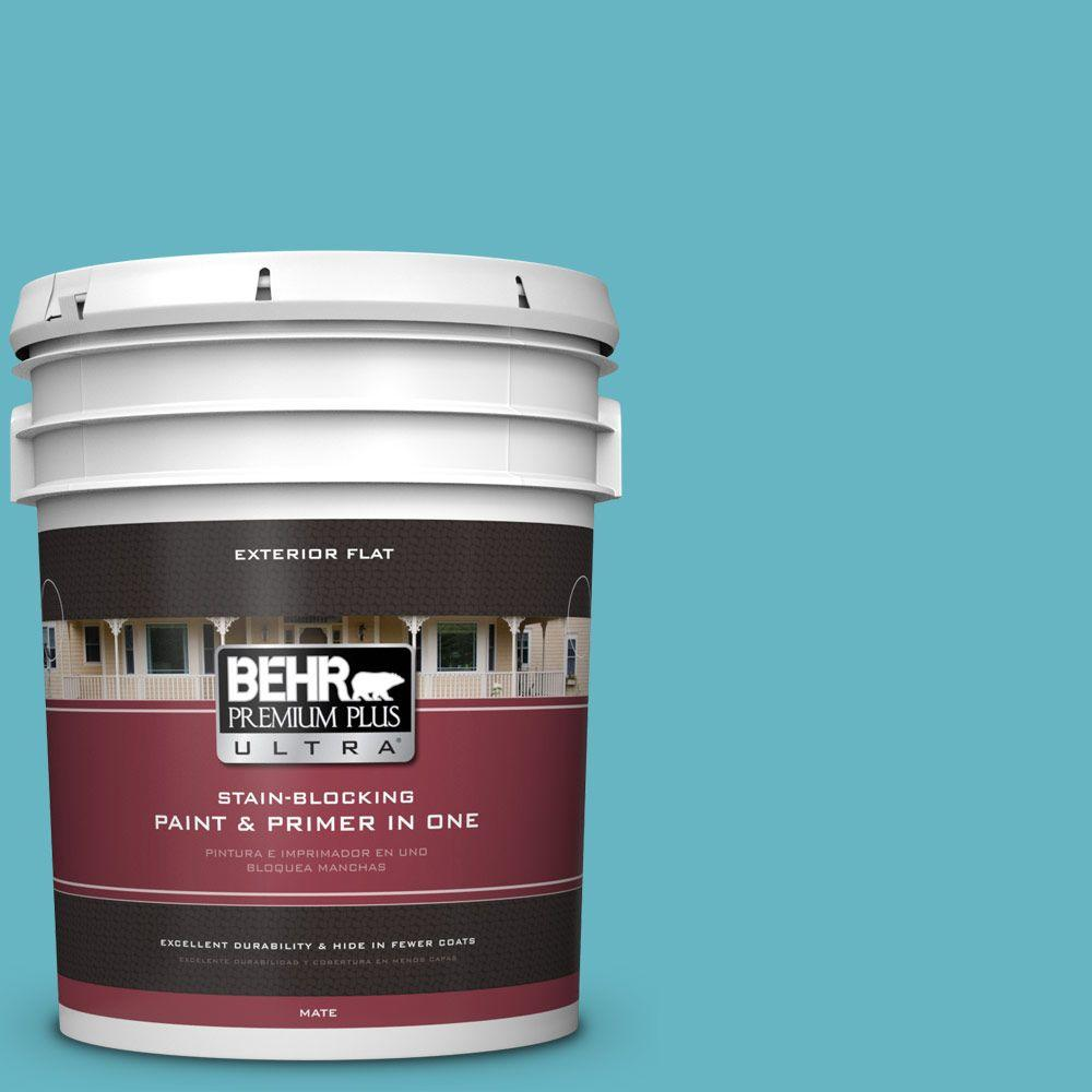 5-gal. #520D-5 Tropical Tide Flat Exterior Paint