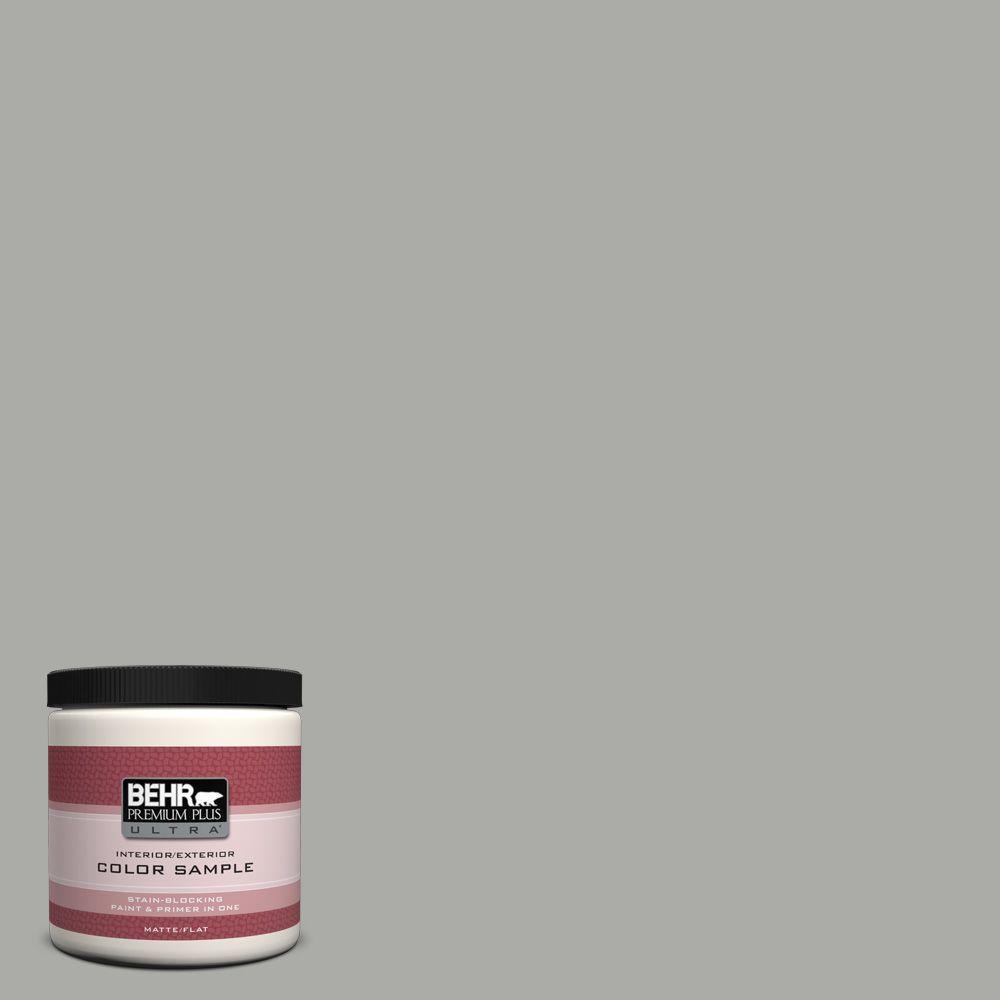 BEHR Premium Plus Ultra 8 oz. #PPF-39 Cool Granite Interior/Exterior Paint Sample