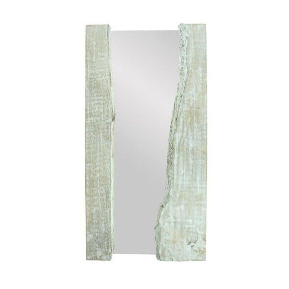 Medium Rectangle White Mirror (35.5 in. H x 1.3 in. W)