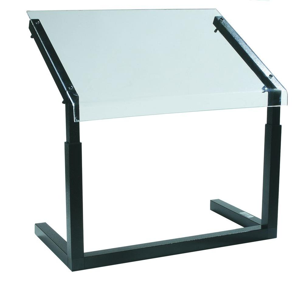 24.25 in. Long Adjustable Height Frame Sneeze Guard with Black Frame