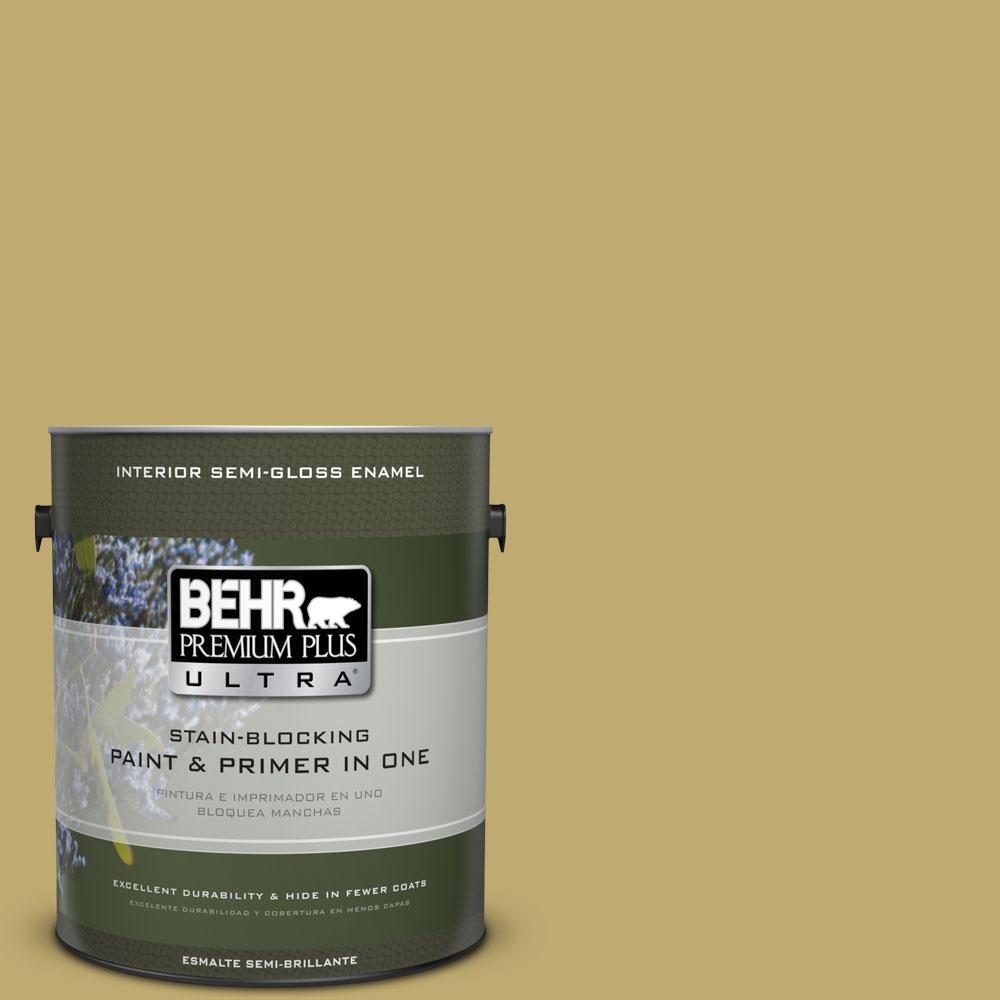 BEHR Premium Plus Ultra 1-gal. #370F-5 Coriander Seed Semi-Gloss Enamel Interior Paint
