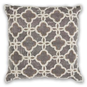 Black and White Grey Geometric Hypoallergenic Polyester 18 in. x 18 in. Throw Pillow