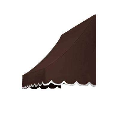 7.38 ft. Wide Nantucket Window/Entry Awning (31 in. H x 24 in. D) in Brown