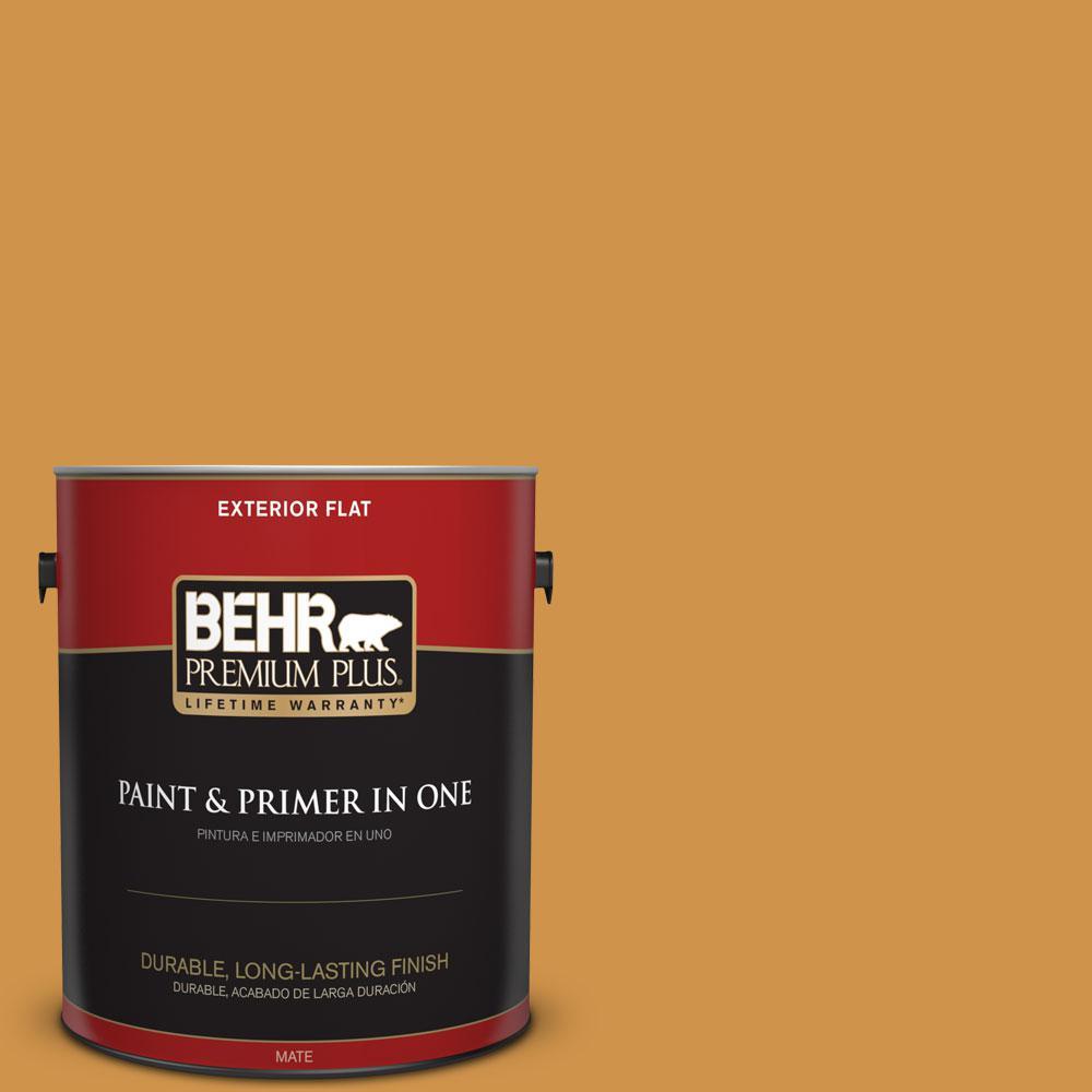 1-gal. #M260-6 Sweet Mustard Flat Exterior Paint