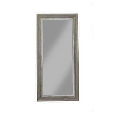 Antique Grey Farmhouse Full Length Leaner Mirror