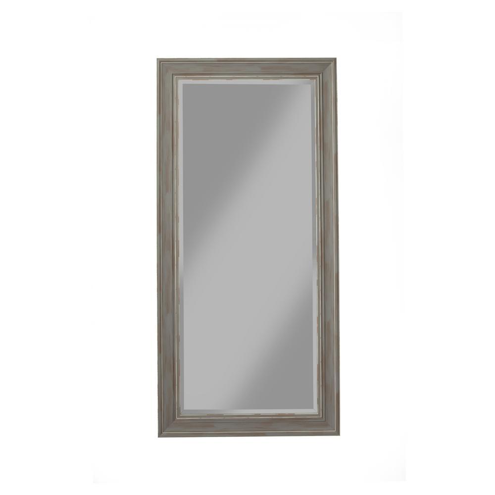 Antique Grey Farmhouse Full Length Leaner Mirror