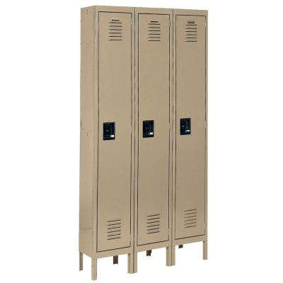 Citadel 12 in. W x 18 in. D x 72 in. H Steel Single Tier Lockers in Tan