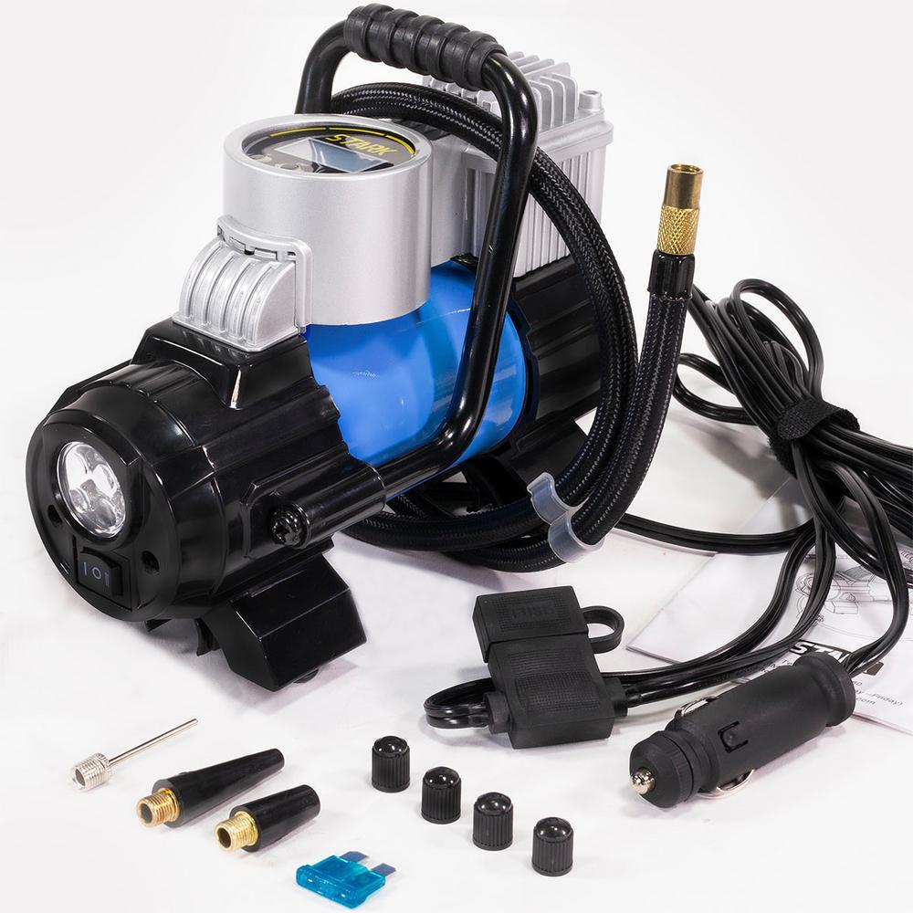 Portable Mini Air Compressor 12Volt 12v DC Electric Tire Inflator Pump 250PSI