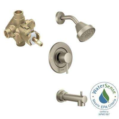 Align Single-Handle 1-Spray PosiTemp Tub and Shower Faucet Trim Kit with Valve in Brushed Nickel (Valve Included)