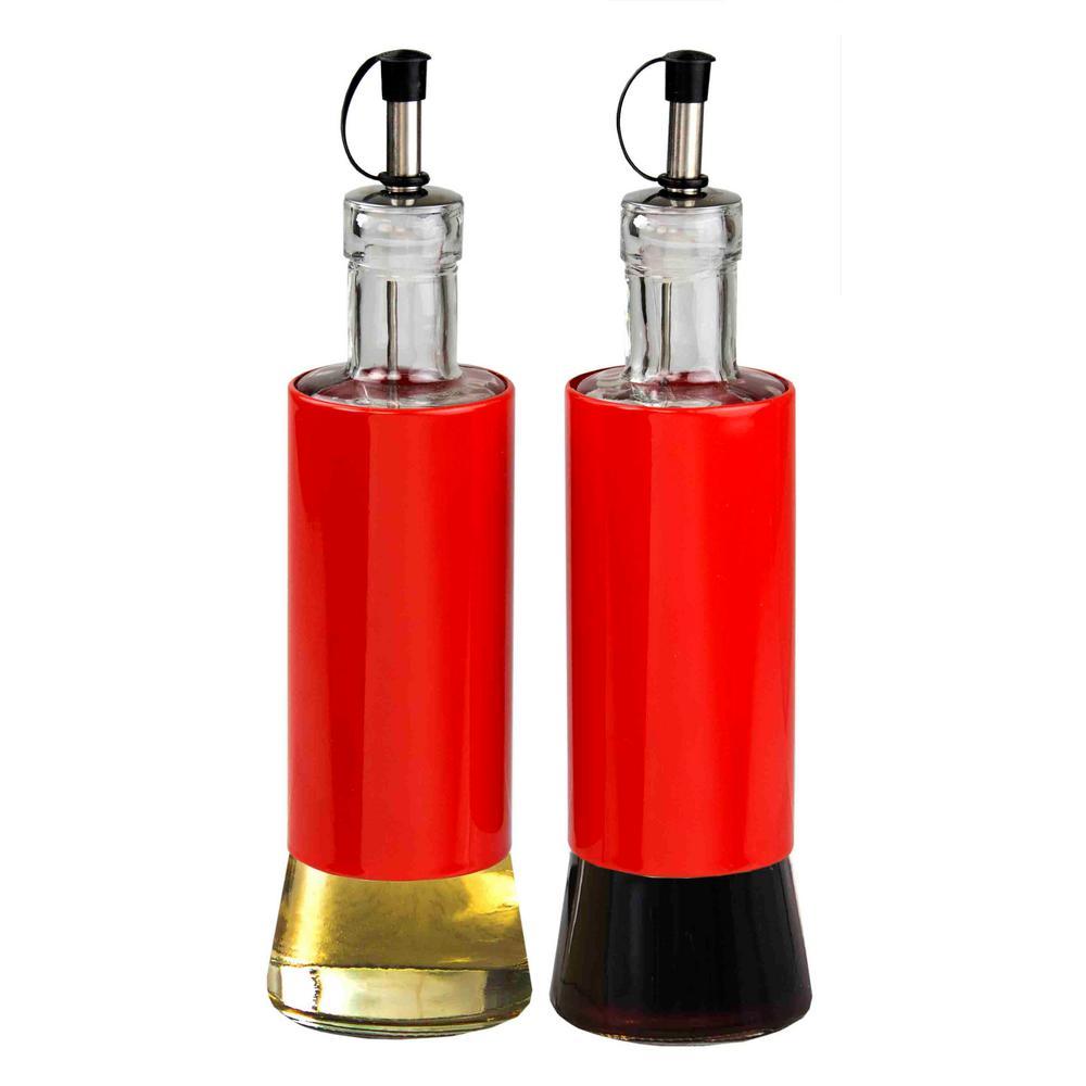 Stainless Steel Oil & Vinegar Dispensing Bottle Set