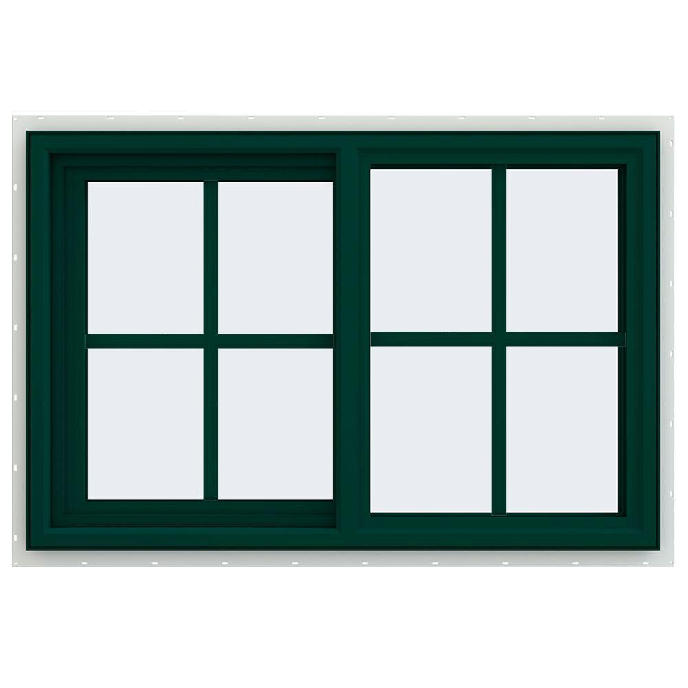 35.5 in. x 23.5 in. V-4500 Series Left-Hand Sliding Vinyl Window