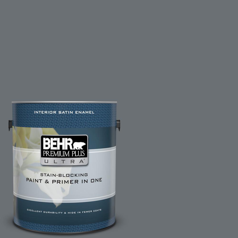 Behr Premium Plus Ultra 1 Gal N170 6 Natural Bark Satin Enamel Interior Paint And Primer In One