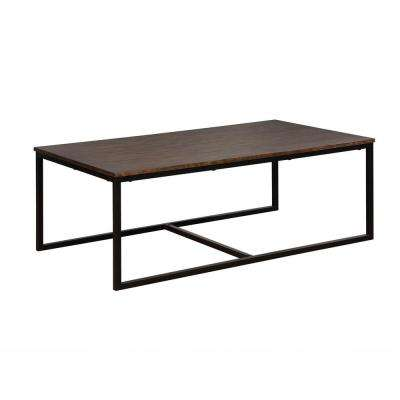 Arcadia Antiqued Mocha 54 in. Acacia Wood Coffee Table