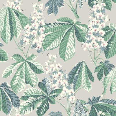 Chestnut Blossom Grey Floral Wallpaper Sample
