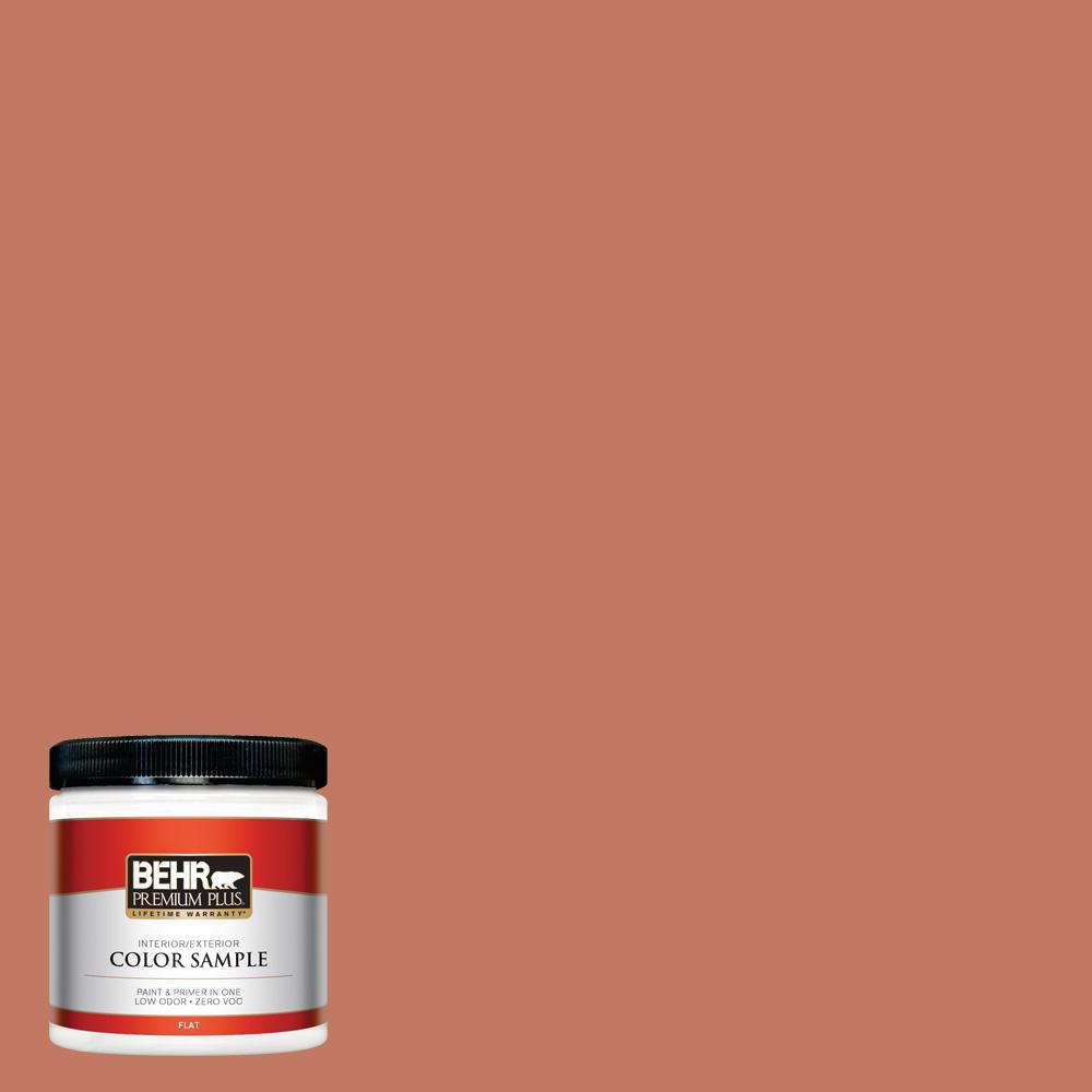 BEHR Premium Plus 8 oz  #MQ1-26 Pinata Flat Interior/Exterior Paint and  Primer in One Sample
