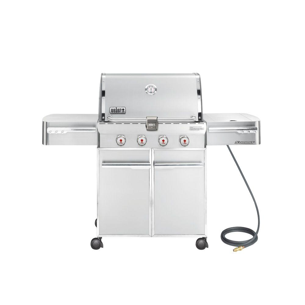 Weber Summit S-420 4-Burner Natural Gas Grill in Stainless Steel