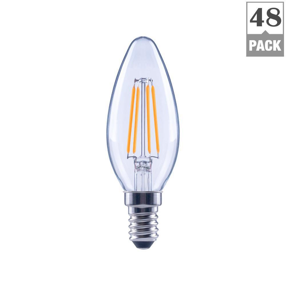 Ecosmart 40w Equivalent Soft White B11 Dimmable Filament: EcoSmart 60-Watt Equivalent B11 Dimmable Clear Filament