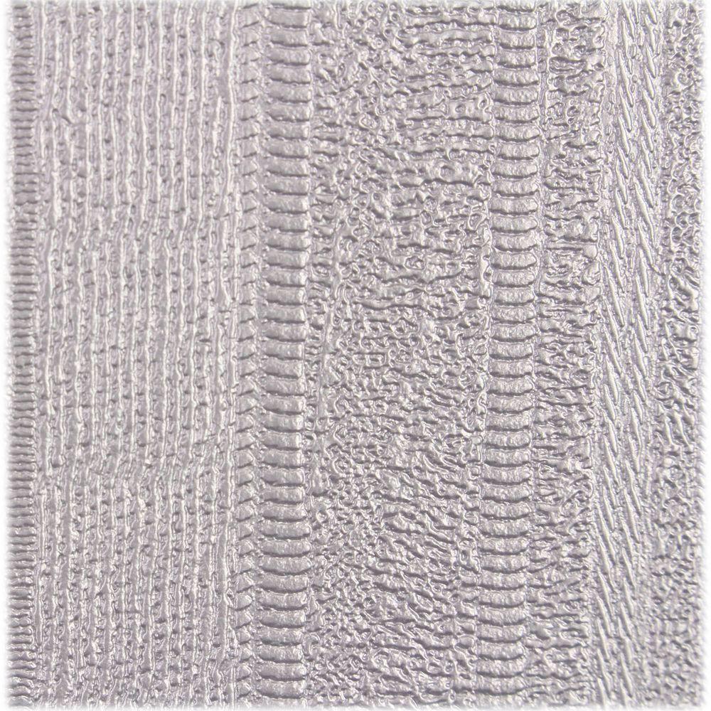 Silver Metallic Stripes Self-Adhesive Wallpaper Sample
