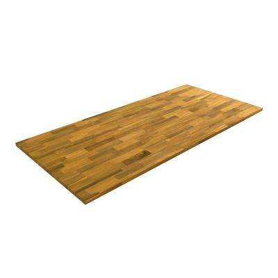 6 ft. 2 in. L x 3 ft. W x 1 in. T Butcher Block Countertop in Oils Acacia with Light Oak Wood Oil Stain