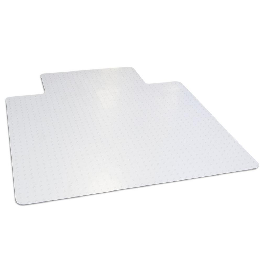 45 in. x 53 in. Clear Office Chair Mat with Lip