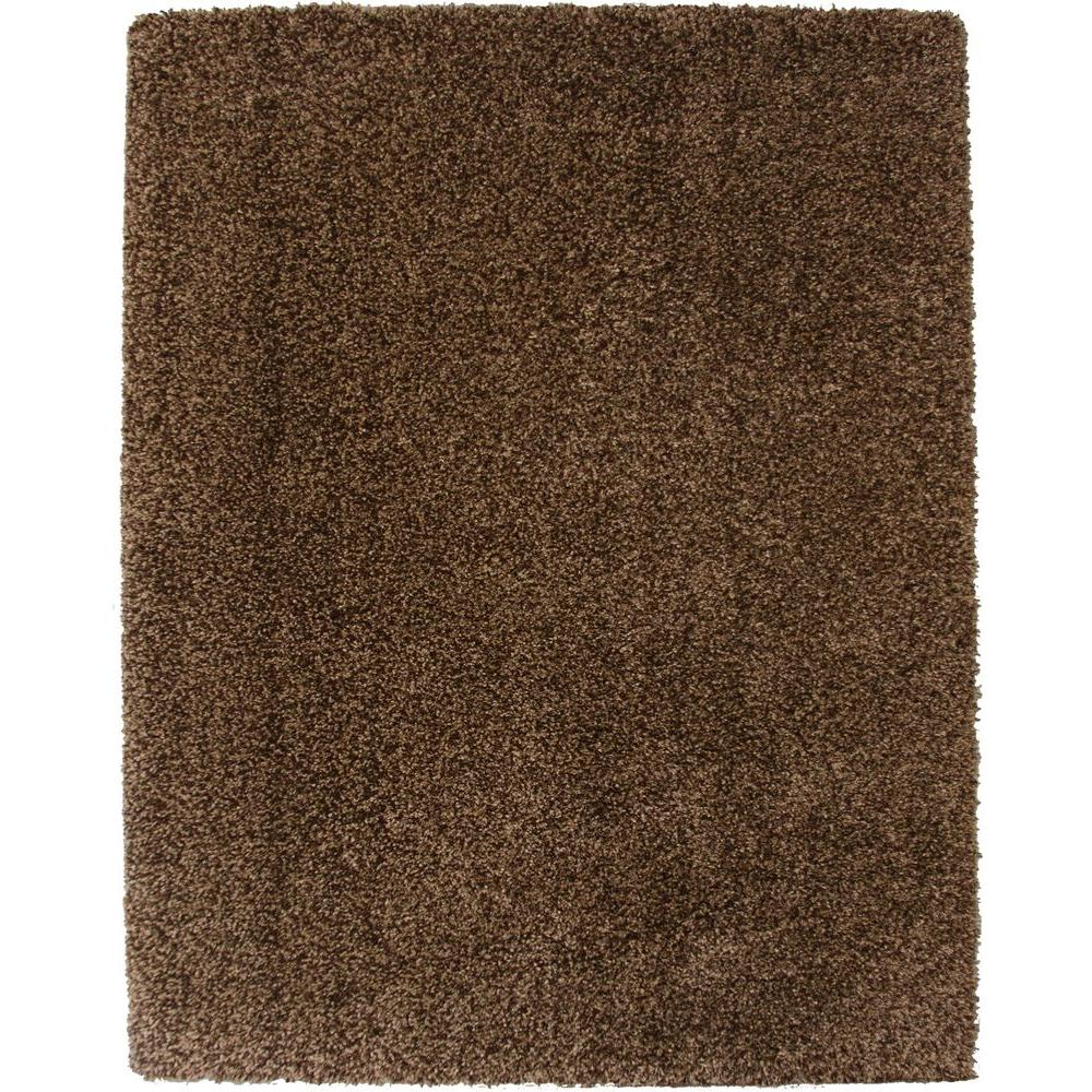 Home Decorators Collection Hanford Shag Blended Brown 7 ft. 10 in. x 10 ft. Area Rug