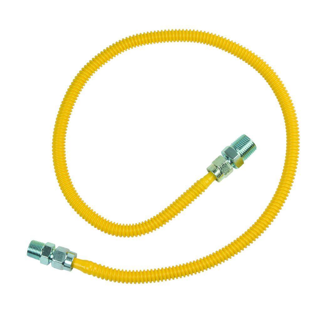 BrassCraft ProCoat 1/2 in. MIP x 3/8 in. MIP x 36 in. Stainless Steel Gas Connector 3/8 in. O.D. (33,400 BTU)