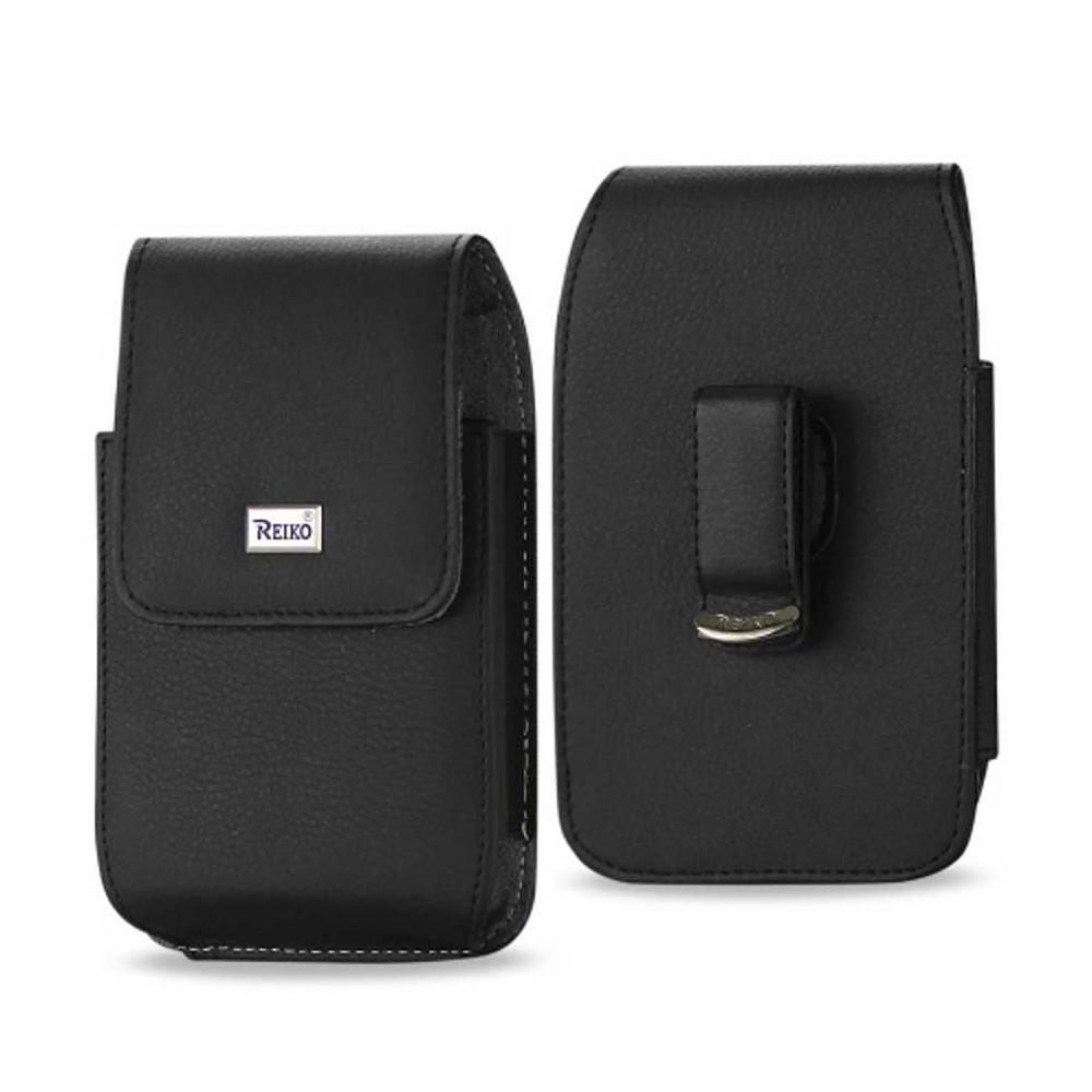REIKO Medium Vertical Leather Holster in Black