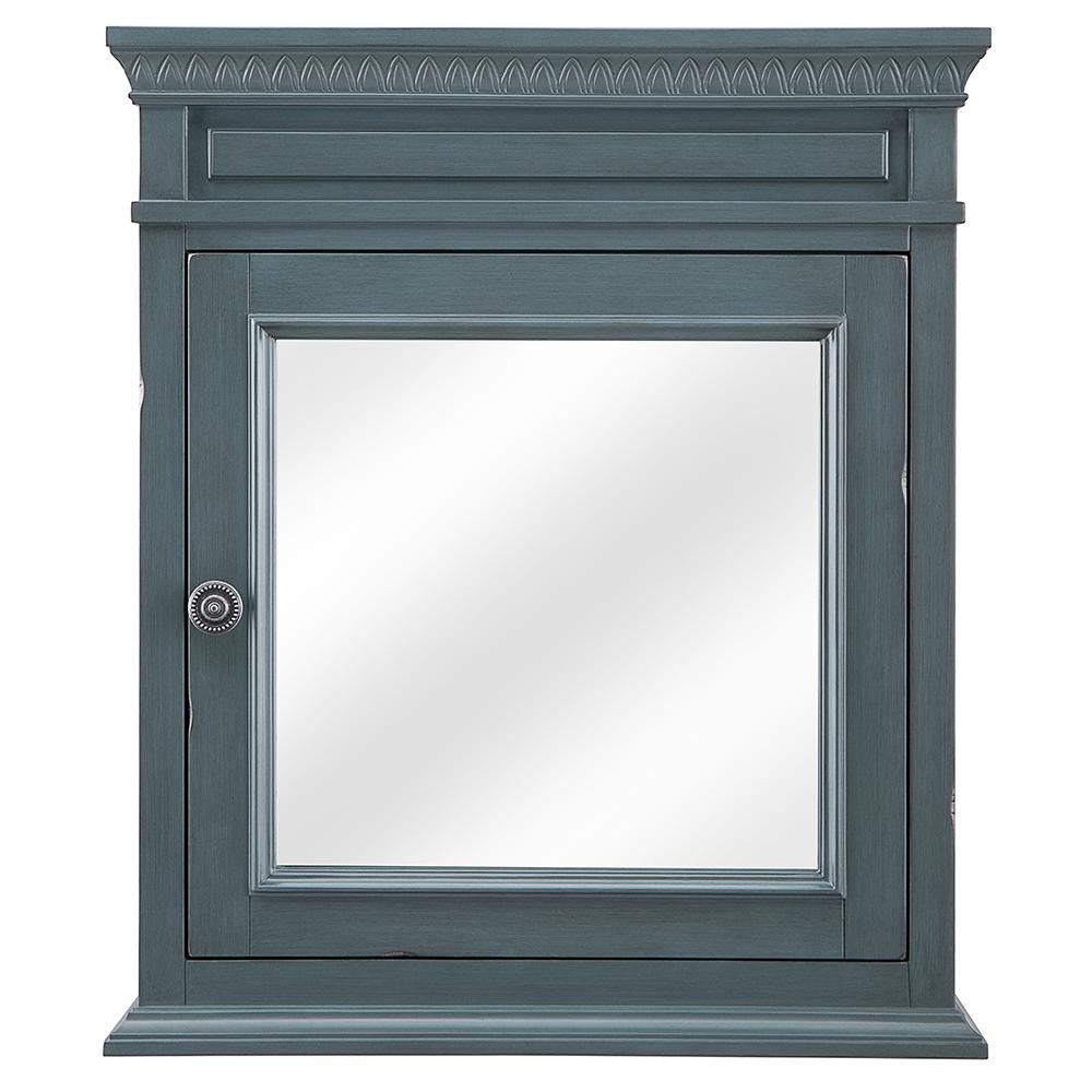 Home Decorators Collection Cailla 24 In W X 28 H Mirrored Wall Cabinet