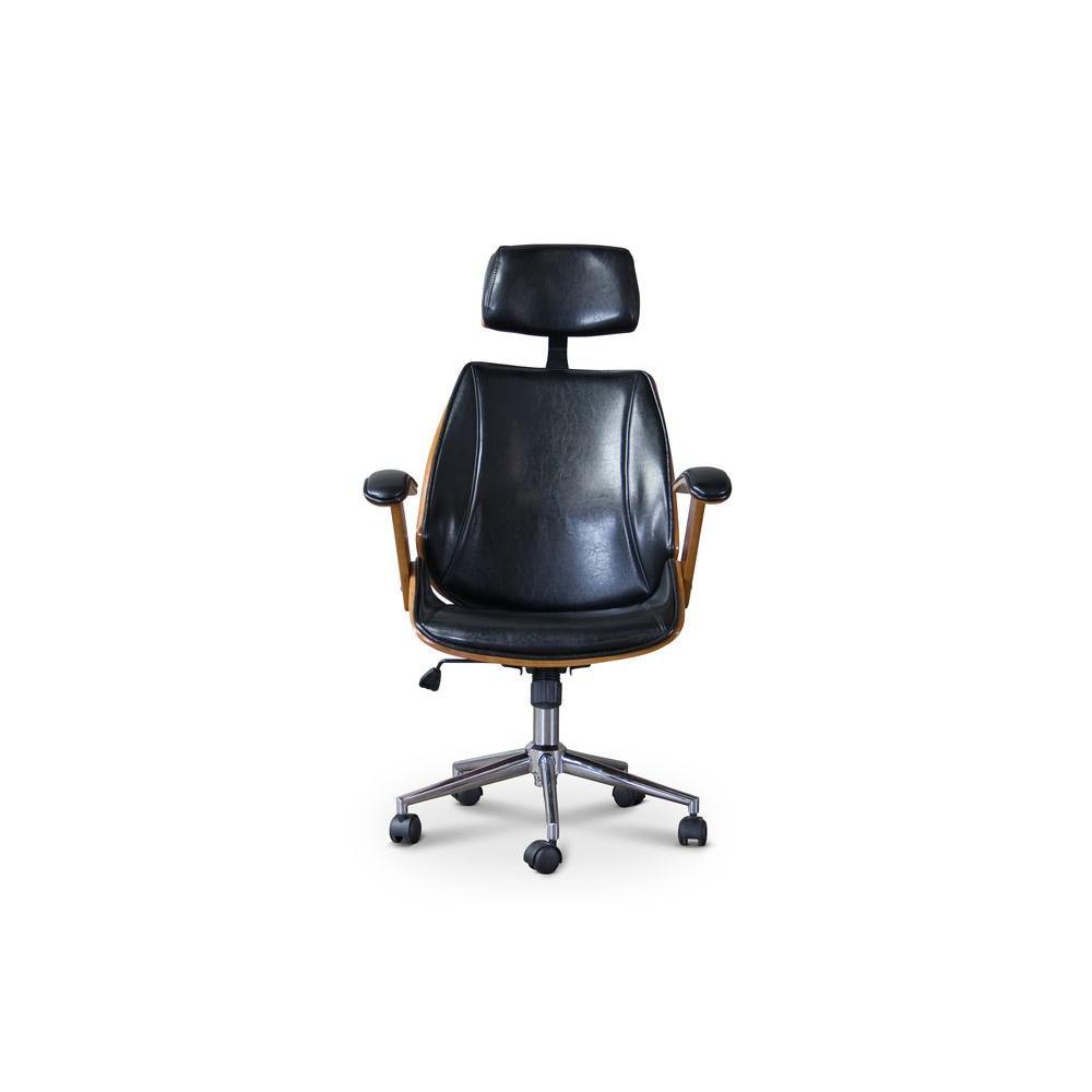 Hamilton Black Faux Leather Office Chair