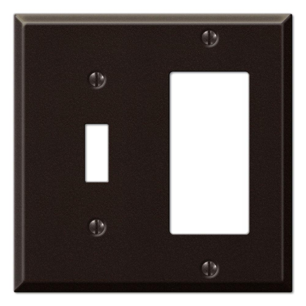 Creative Accents Steel 1 Toggle 1 Decora Wall Plate - Antique Bronze