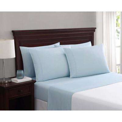 Everyday Cotton Blend Sheet Sets Light Blue 6-Piece King Sheet Set