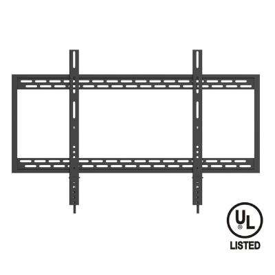 Heavy Duty Fixed TV Wall Mount for 60 in.-100 in. Flat Panel and Curved TVs UL Listed, Black