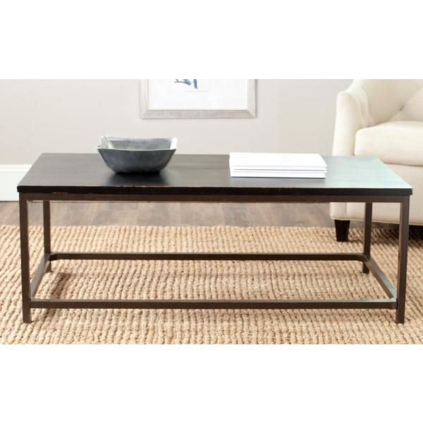 Alec Distressed Black Coffee Table
