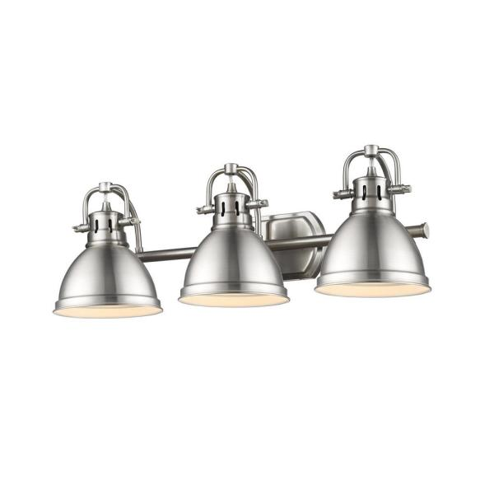 Duncan 3-Light Pewter Bath Light