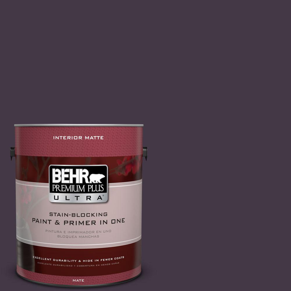 BEHR Premium Plus Ultra 1 gal. #ECC-17-3 Napa Harvest Flat/Matte Interior Paint