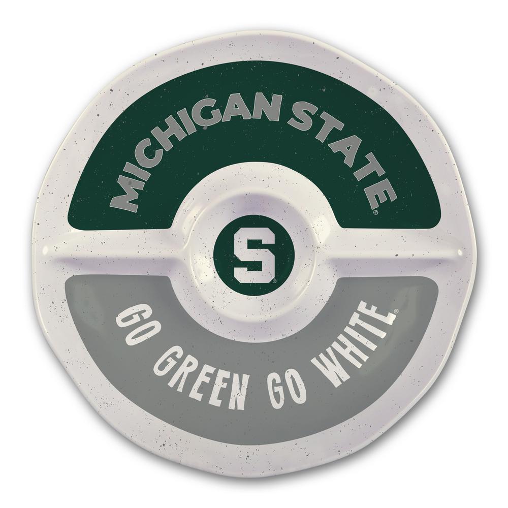 Magnolia Lane Michigan State 15 in. Chip and Dip Server 21809
