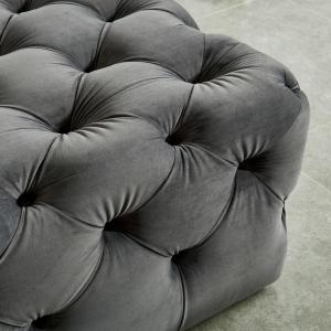 Brilliant Ashley Gray Button Tufted Ottoman Onthecornerstone Fun Painted Chair Ideas Images Onthecornerstoneorg