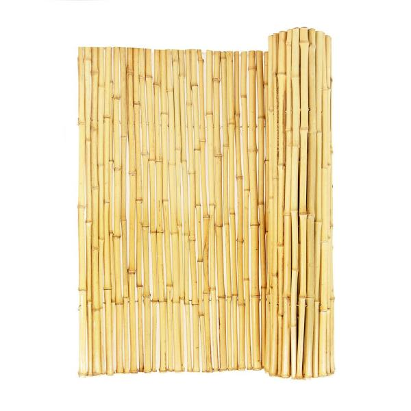 3/4 in. D. 4 ft. H x 8ft. W Natural Bamboo Fence