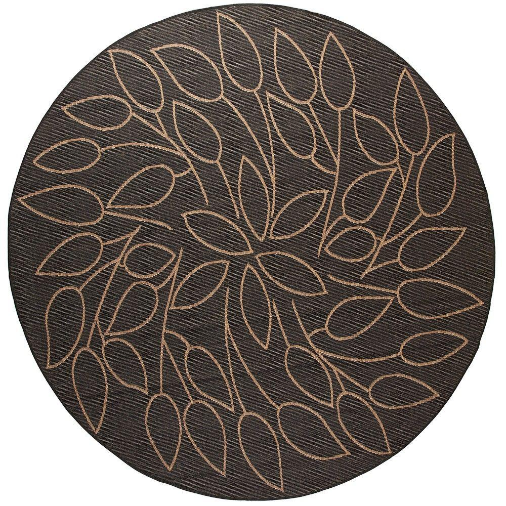 home decorators collection persimmon black 9 ft round area rug 4248665210 the home depot. Black Bedroom Furniture Sets. Home Design Ideas