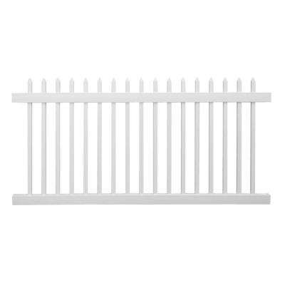 Abbington 3 ft. H x 8 ft. W White Vinyl Picket Fence Panel