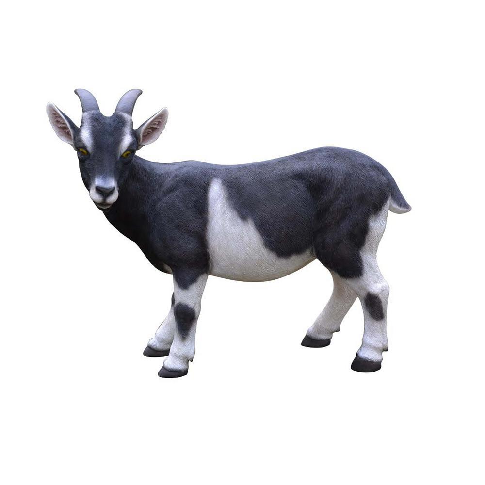 Black and White Goat Garden Statue