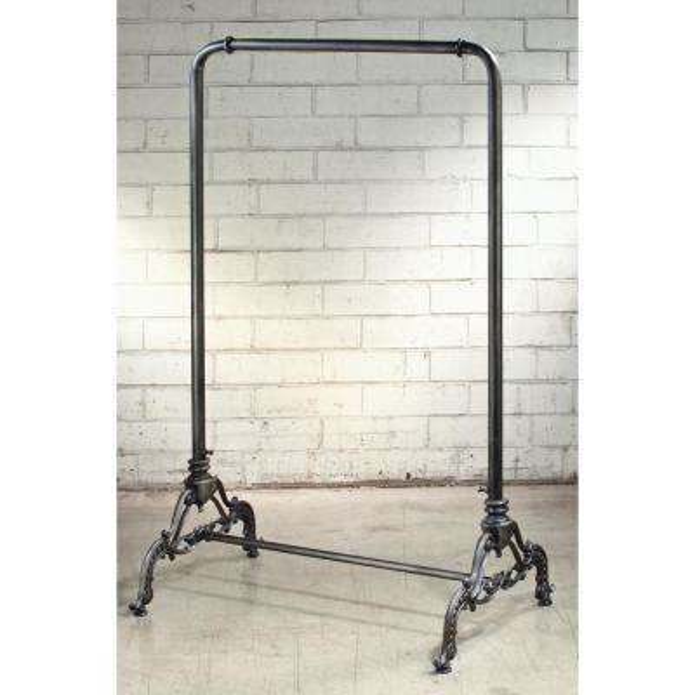 33.5 in. W x 55.5 in. H Metal Black Finish Garment Rack/Portable Wardrobe