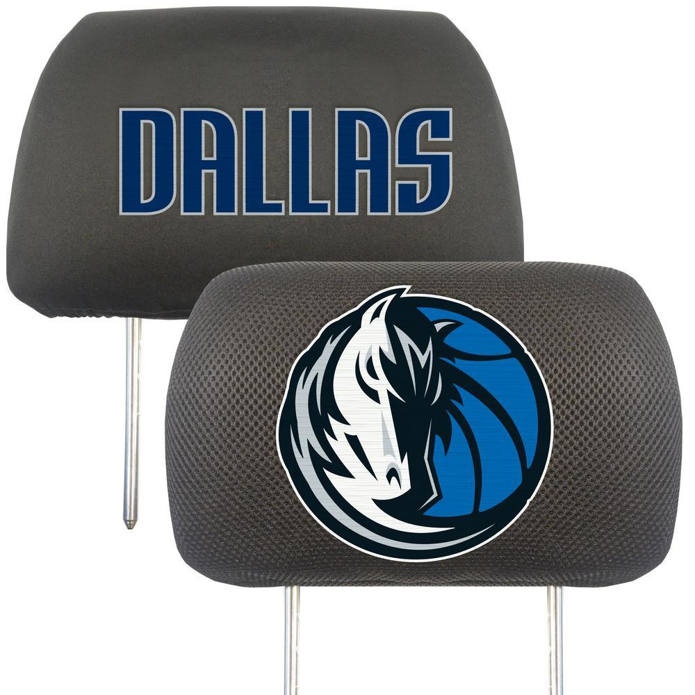NBA - Dallas Mavericks Mesh 13 in. x 10 in. Head Rest Cover